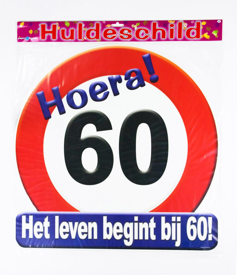 Huldeschild Verkeersbord 60 jaar