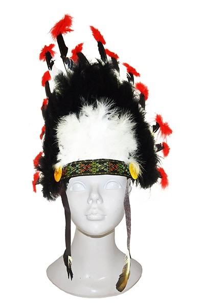 Indianen Tooi Luxe Zwart/Wit/Rood