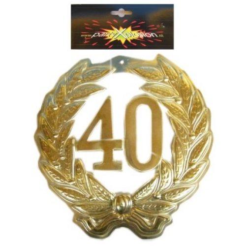 Jubileum Krans '40' Goud 40cm