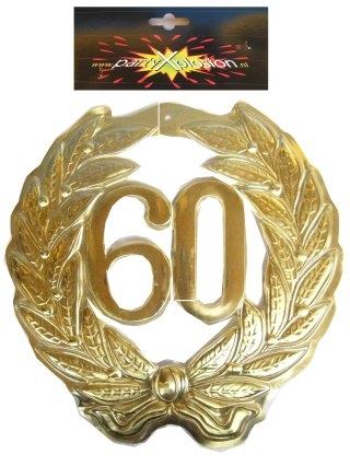 Jubileum Krans '60' Goud 40cm