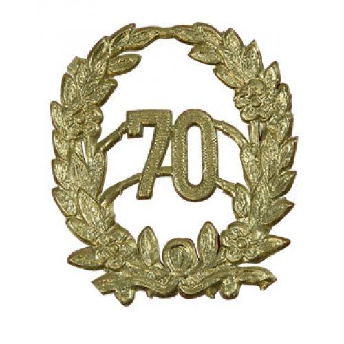 Jubileum Krans '70' Goud 4x5cm