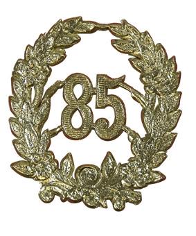 Jubileum Krans '85' Goud 4x5cm