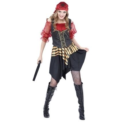 Jurk Piraat Luxe Dames One Size