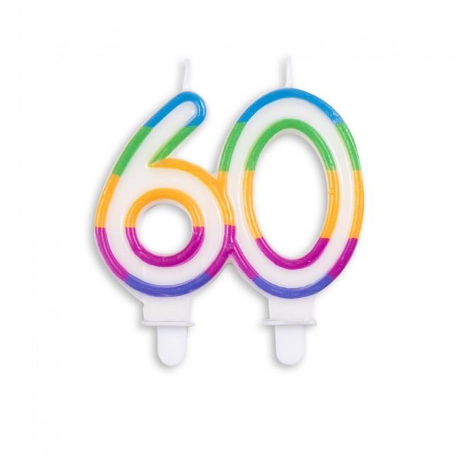 Kaars Multicolor Nr.60 8x7cm