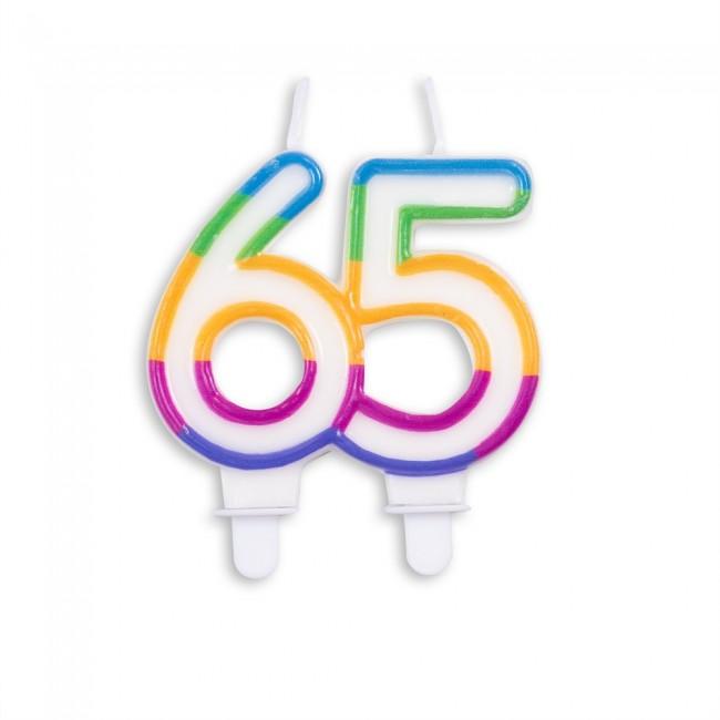 Kaars Multicolor Nr.65 8x7cm
