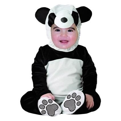 Kostuum Beertje Zwart-Wit Kind 1-2 jaar