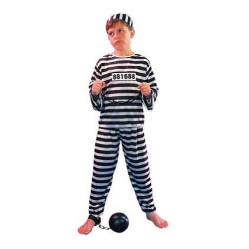 Kostuum Boef Zwart/Wit Budget Kind