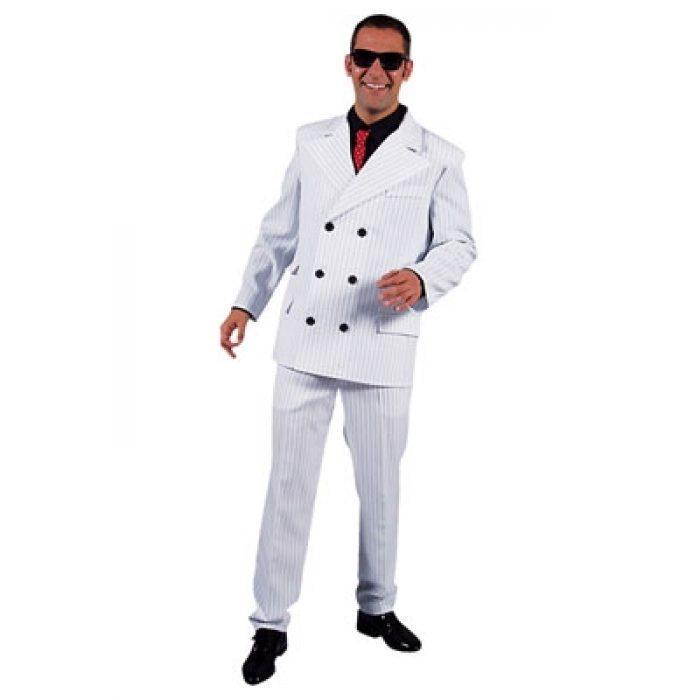 Kostuum Gangster Wit Heren