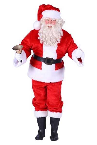 Kostuum Kerstman Pluche Heren