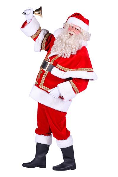 Kostuum Kerstman Polyester Luxe Heren