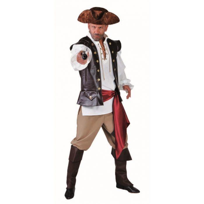 Kostuum Piraat 4-Delig Heren