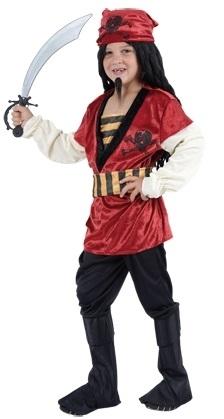 Kostuum Piraat Rood 10-12jaar