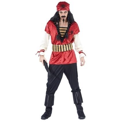 Kostuum Piraat Rood Heren