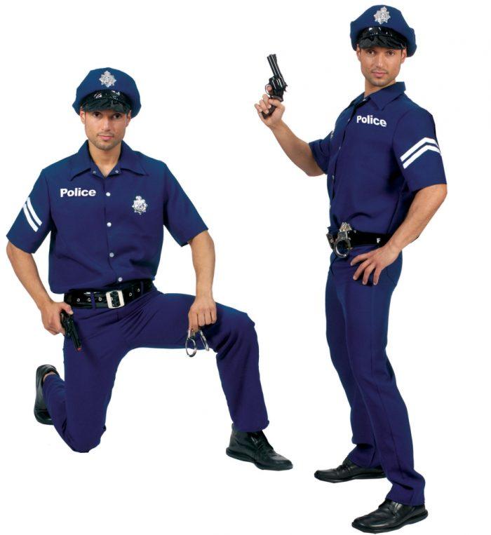 Kostuum Politiepak 4-delig Heren