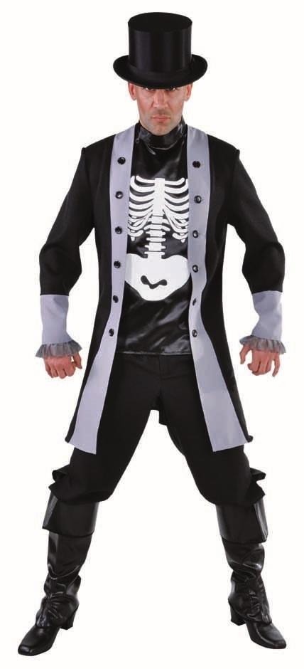 Kostuum Skelet Lord Heren Mt.S