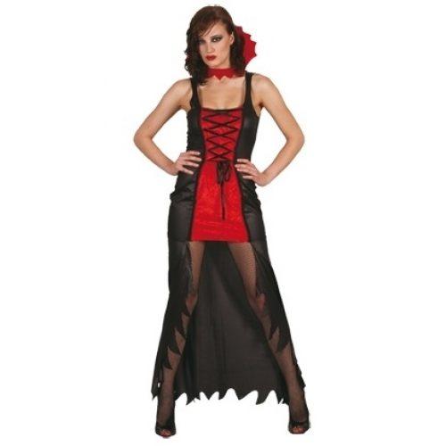 Kostuum Vampier Meesteres Dames One Size