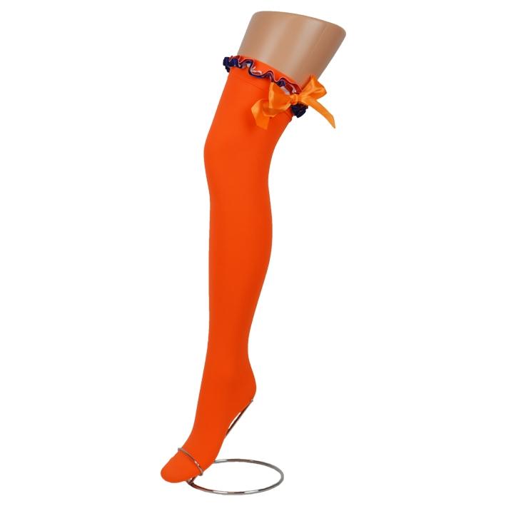 Kousen Oranje met Strik Rood-Wit-Blauw