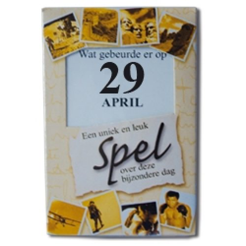 Kroniek Spel 29 April