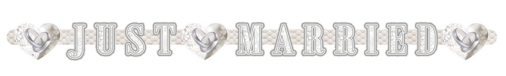 Letter Banner Just Married