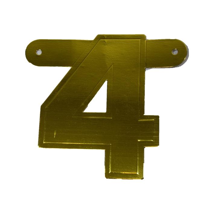 Letterslinger Cijfer-4 Groen