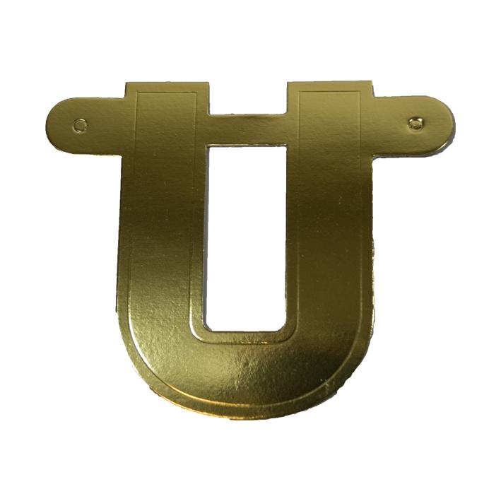 Letterslinger Letter-U Goud