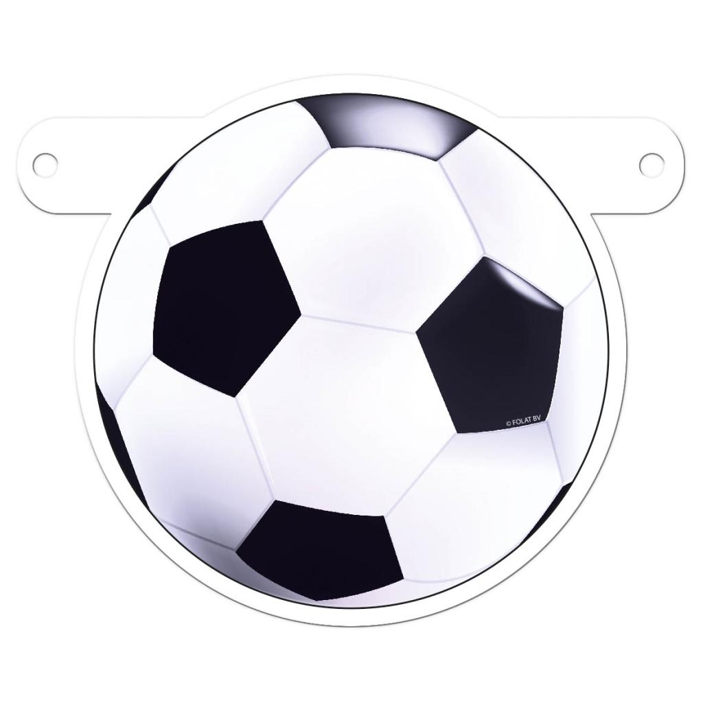 Letterslinger Voetbal Zwart-Wit