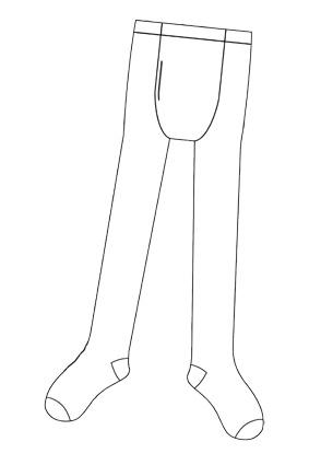 Maillot Wit met Gulp Volwassen One Size