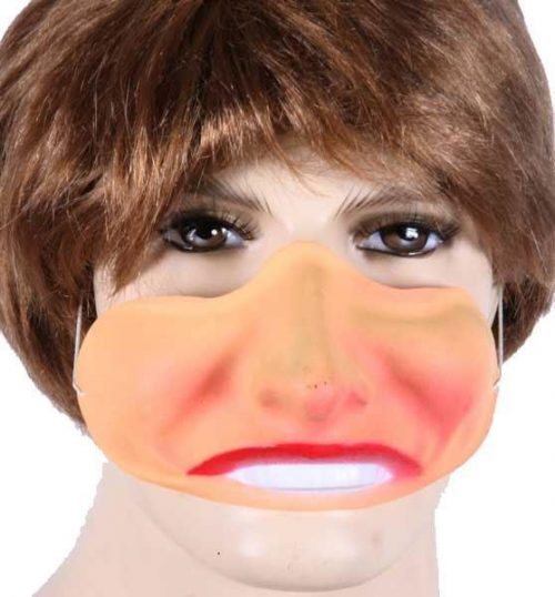Plastic Masker Bolle Wangen Vrouw