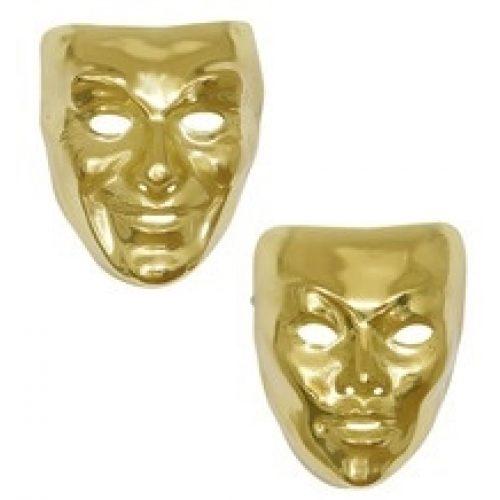 Hard Plastic Masker Goud