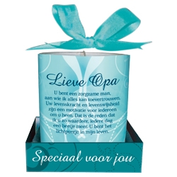 Message Candle Lieve Opa
