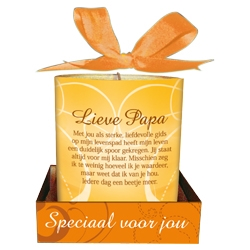 Message Candle Lieve Papa