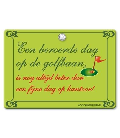 Metal Slogan Golfbaan