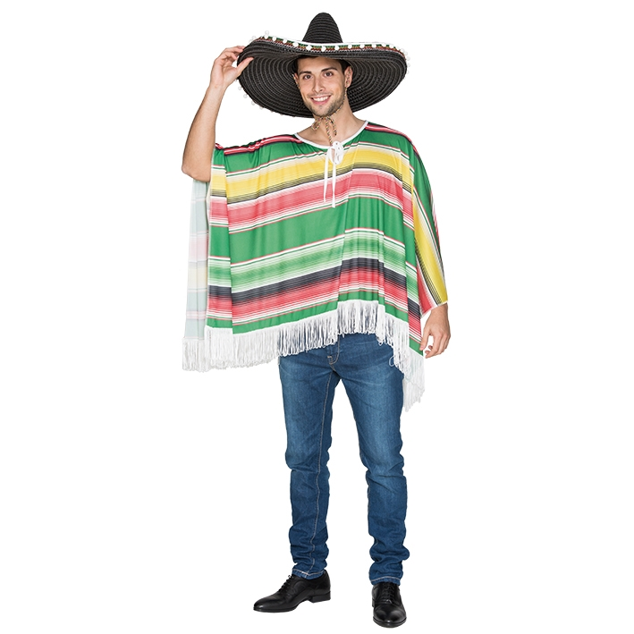 Mexicaanse Poncho Volwassen One Size