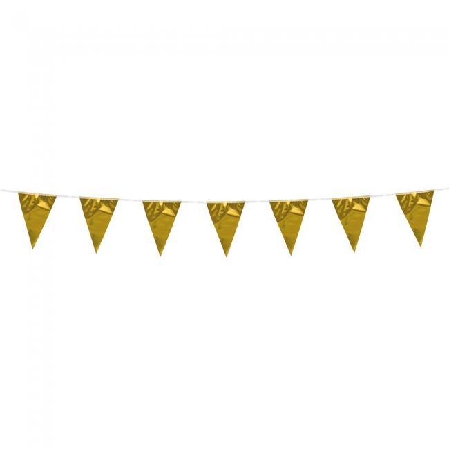 3m Mini Vlaggenlijn Uni Goud Metallic