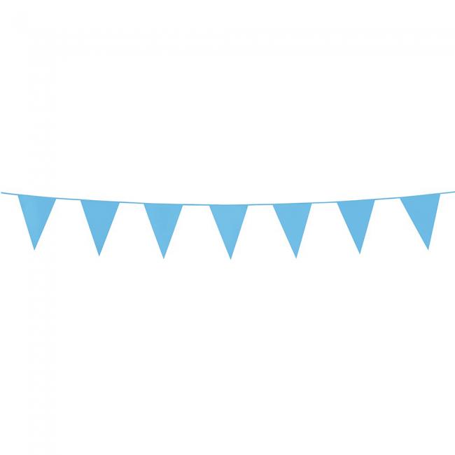 3m Mini Vlaggenlijn Uni Licht Blauw