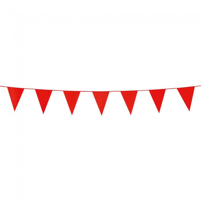 3m Mini Vlaggenlijn Uni Rood