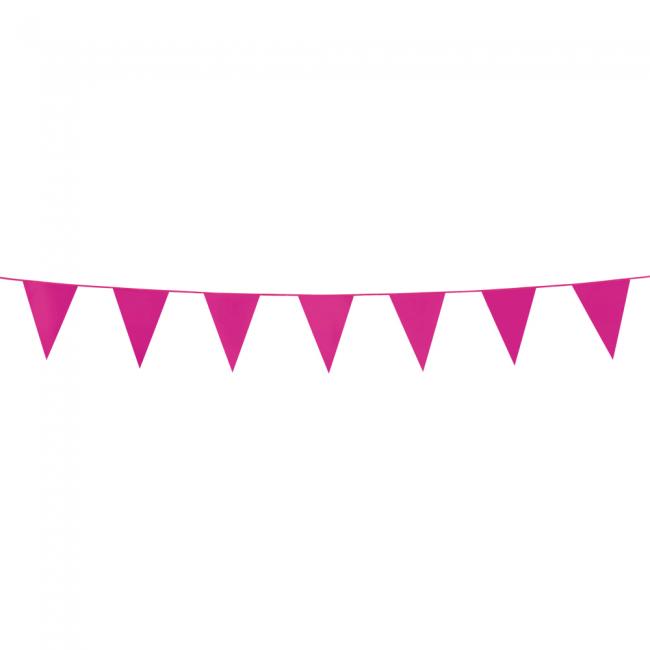 3m Mini Vlaggenlijn Uni Roze