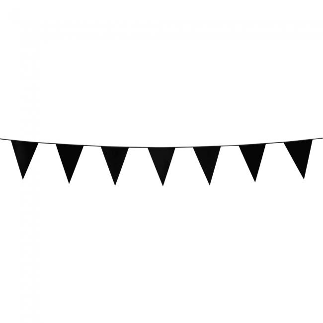 3m Mini Vlaggenlijn Uni Zwart