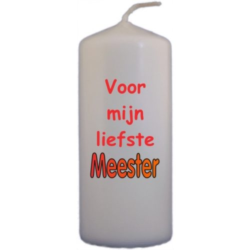 Naamkaars Voor Meester