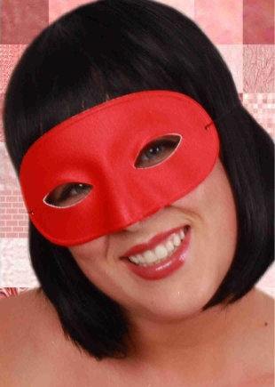 Oogmasker Domino Rood