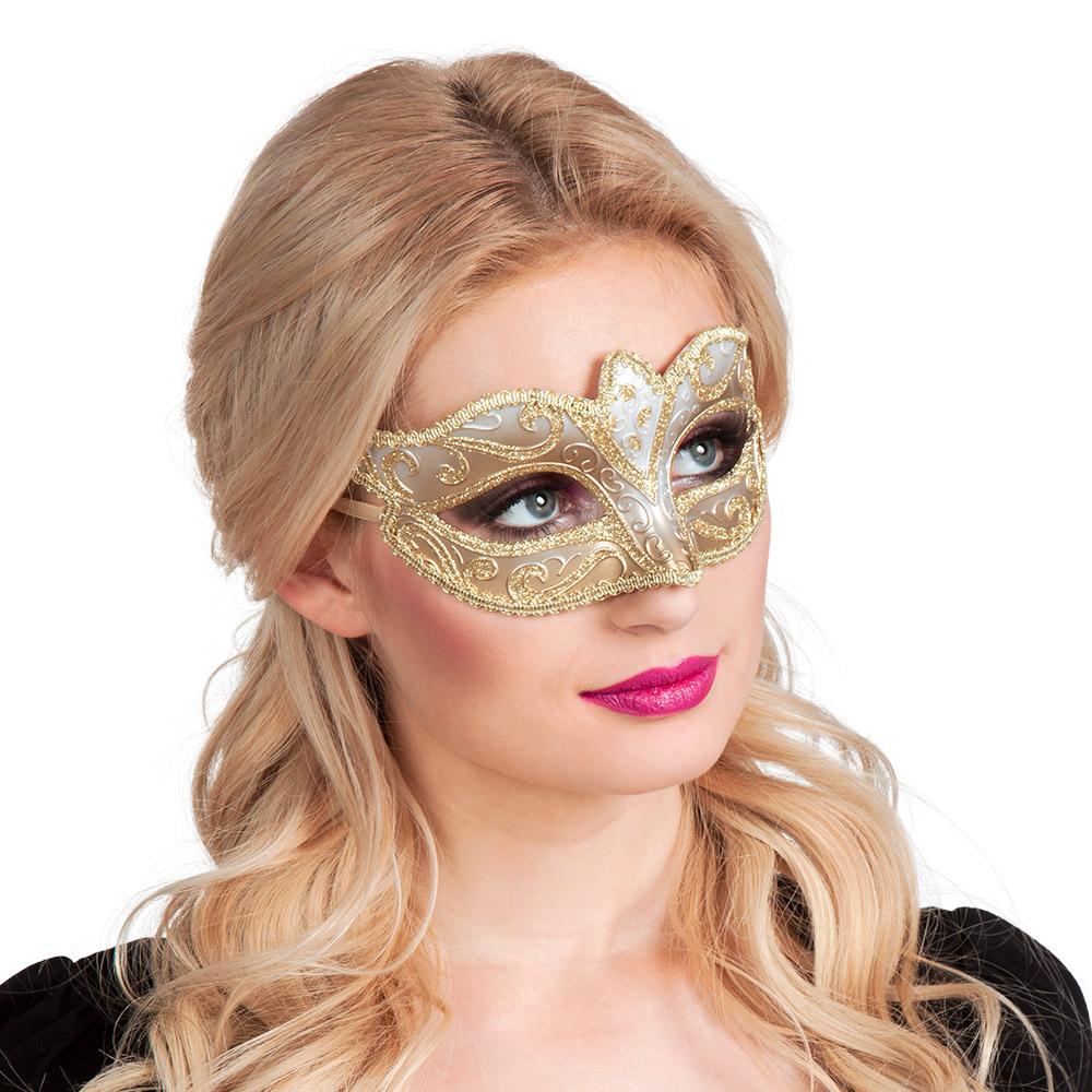 Oogmasker Venetiaans Felina Goud