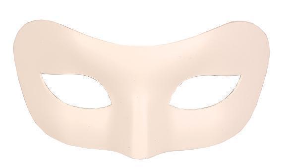 Oogmasker Venetiaans Uni Wit