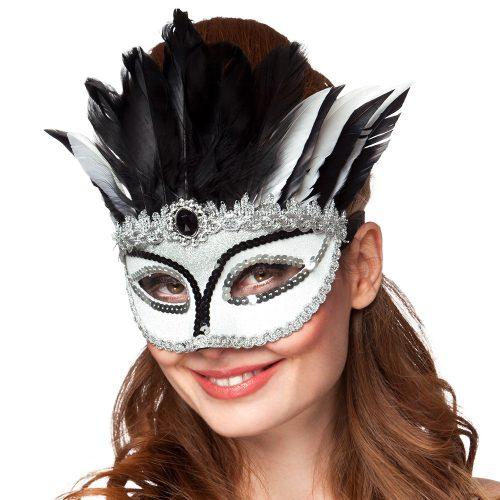 Oogmasker Venice Gazza Zwart/Wit
