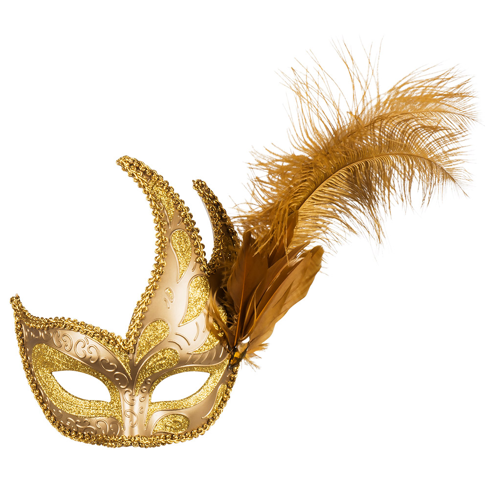 Oogmasker Venice Prezioso Glitter-Band-Veren Goud