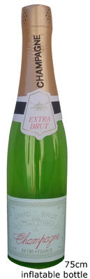 Opblaas Champagnefles 75cm