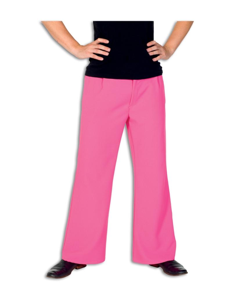 Pantalon Rechte Pijp Roze Heren
