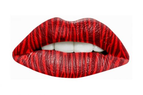 Passion Lips Tattoo-Red Zebra