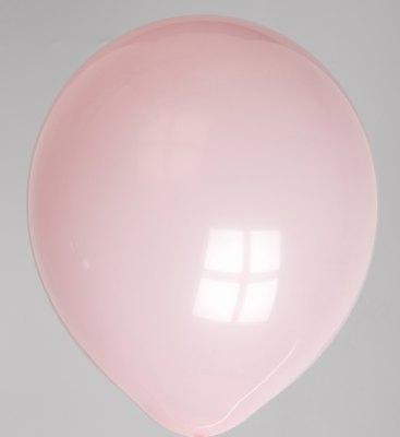 "100st Pastel Ballonnen 12"" Baby Roze-007"