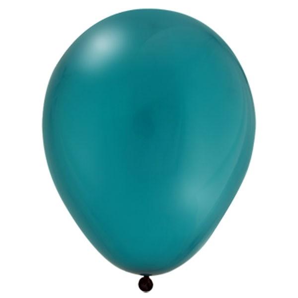 "100st Pastel Ballonnen 12"" Petrol-059"
