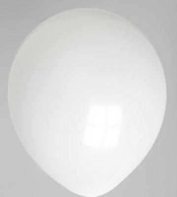 "10st Pastel Ballonnen 12"" Wit-045"